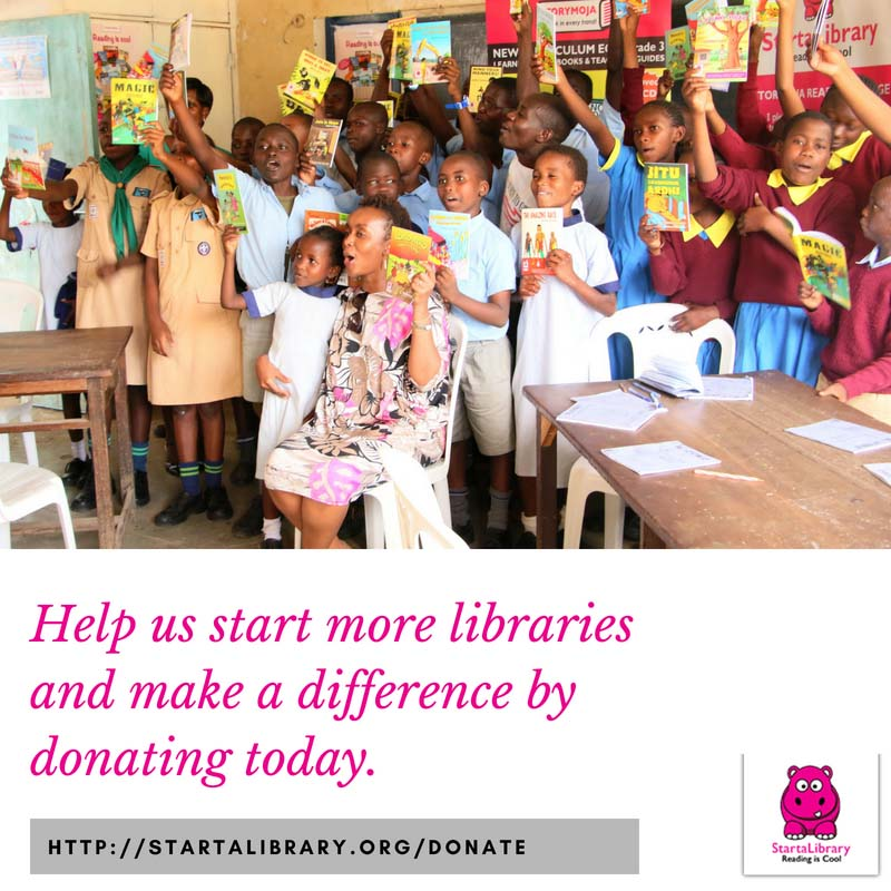 Help us start more libraries and make a difference by donating today